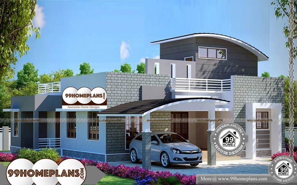 One Level Ranch House Plans - Single Story 1842 sqft-Home