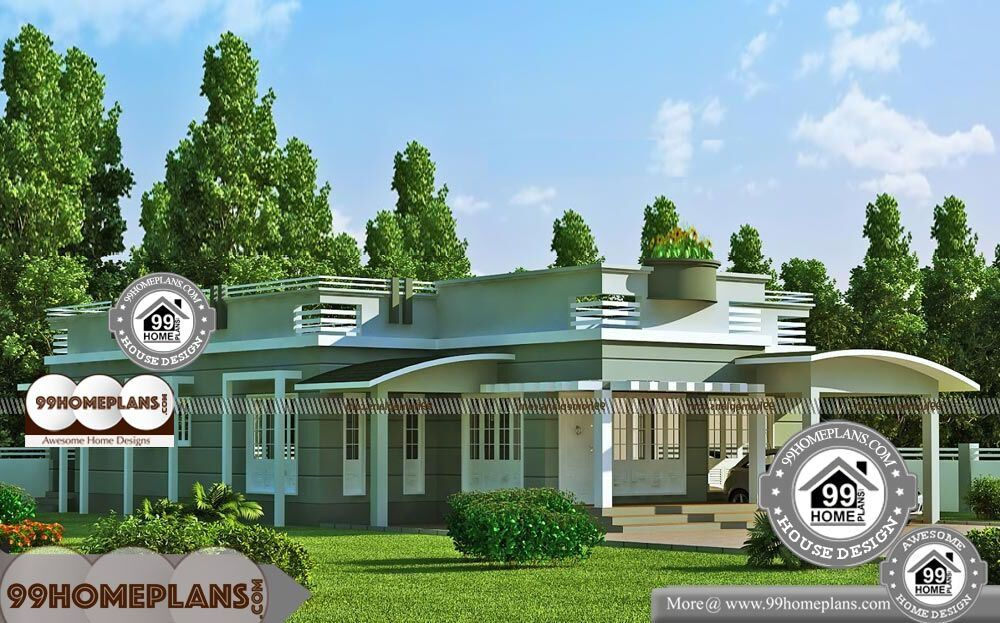 One Story Southern House Plans - Single Story 2073 sqft-Home
