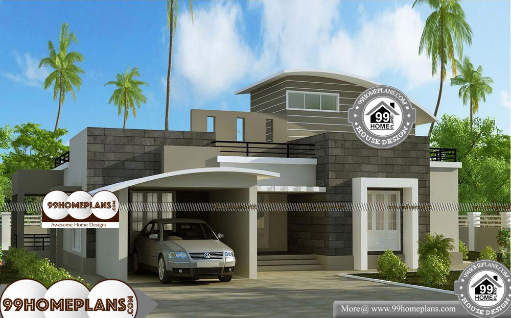 Single Story House Plans With Garage - Single Story 1280 sqft-Home