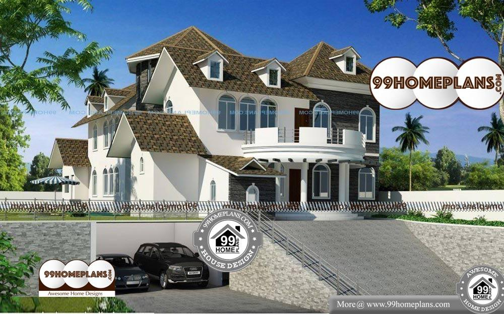 Small Bungalow House Plans Indian - 2 Story 4787 sqft-Home