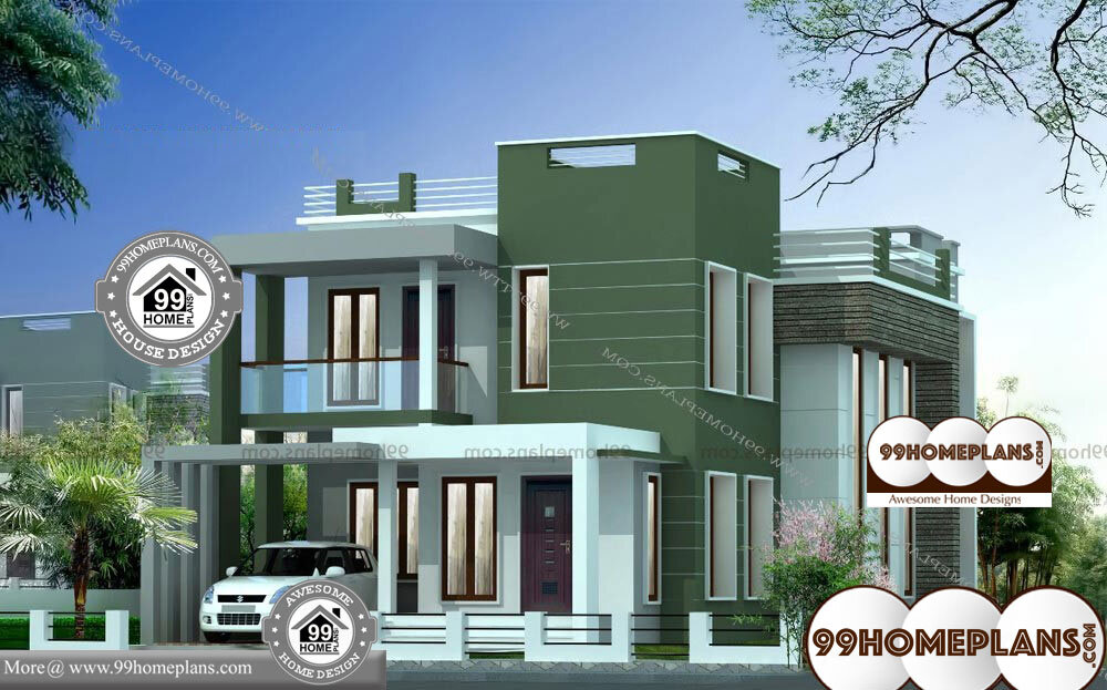 Small Duplex House Plans Indian Style - 2 Story 2100 sqft-Home