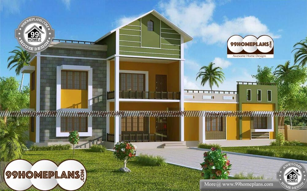 Southern House Plans - 2 Story 1700 sqft-Home