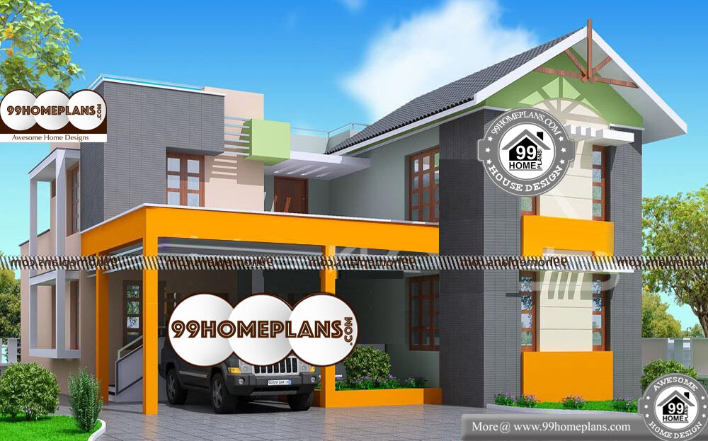 Two Storey House Plans - 2 Story 2000 sqft-Home