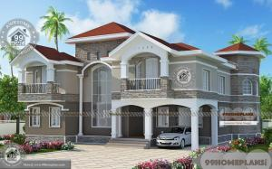 Architect Designed House Plans with 2 Story Modern Stylish Home Design