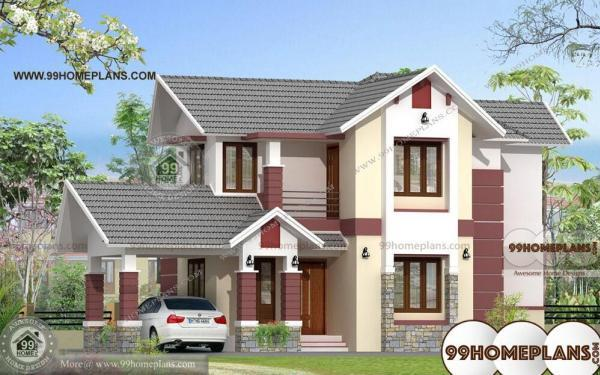 Double Storey Bungalow Elevation : Bungalow with attached garage double story home plan