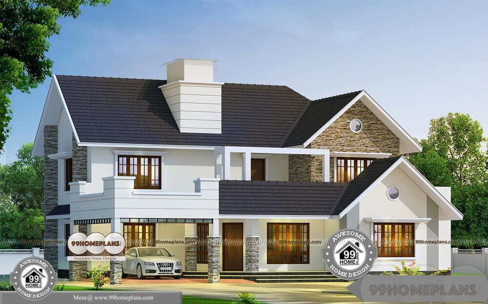 Classic southern home plans with 2 story luxury popular for Colonial style home design in kerala