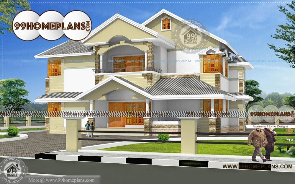 colonial home designs with story house plan and elevation ideas