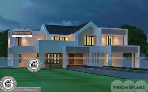 Contemporary Home Plans Free Double Floor Inexpensive Model Houses