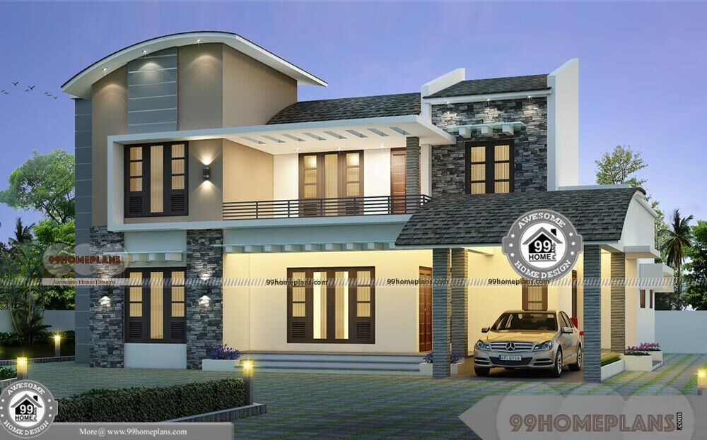 Corner Lot House Design With Two Floor European Style Home