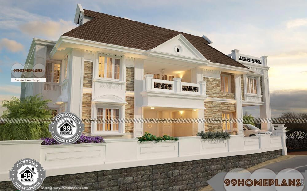 Cost effective house plans double floor classic vasthu for Cost effective house plans