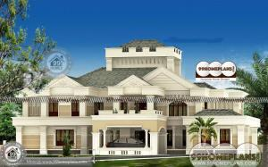 Custom Luxury House Plans and Double Floor Home Architecture Designs