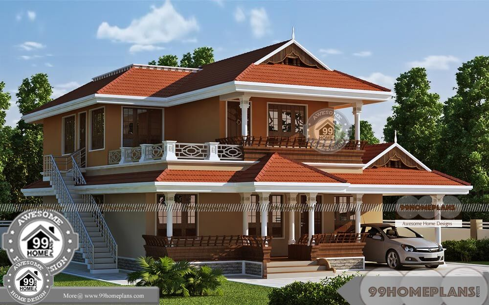 Double Storey Beach House Designs With Kerala Traditional