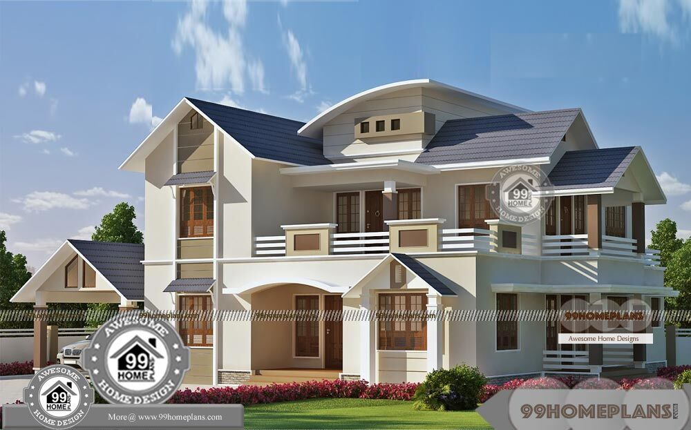 Double Storey Homes Designs Upstairs Living With Spacious Balcony Plan