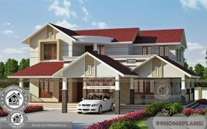 Double Storey House Plans Designs with Traditional Design Patterns Sales
