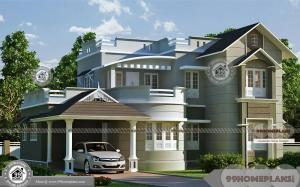 Double Storey Houses With Balcony on Second Floor and Stunning Looks