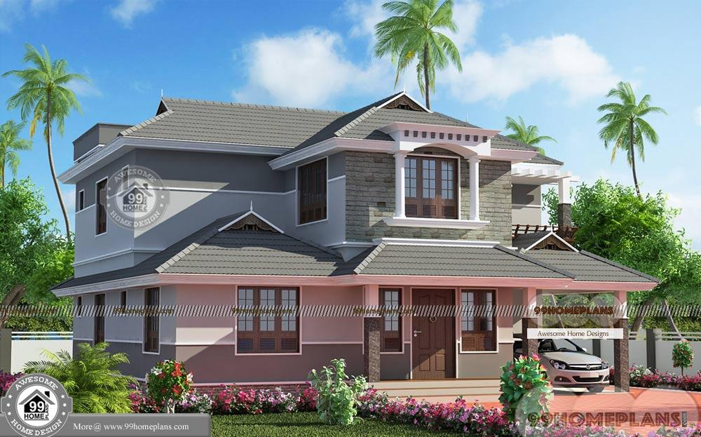 Double story small house plans with conventional pattern for Small double story house plans