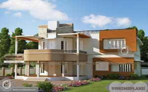 Draw Your Own House Plans Free with 2 Story Modern Indian Style Home