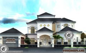 Dubai House Plans Designs with Photos Big Budget Level Bungalow Ideas