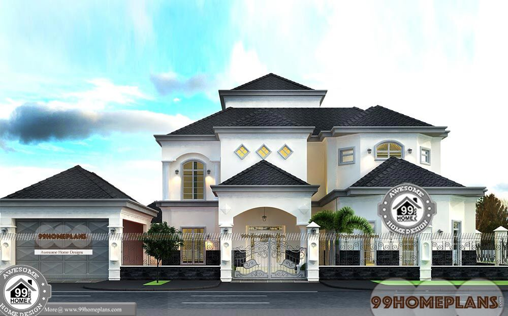 Dubai house plans designs with photos big budget level for 12000 sq ft house plans