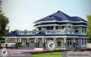 House Designs Double Floor Wide and Spacious Cute Traditional Designs
