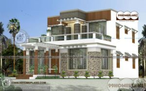 House Designs In Bangalore with Double Story Huge Style Home Elevation