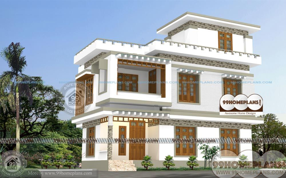 Small two story indian house plans for Free indian house designs