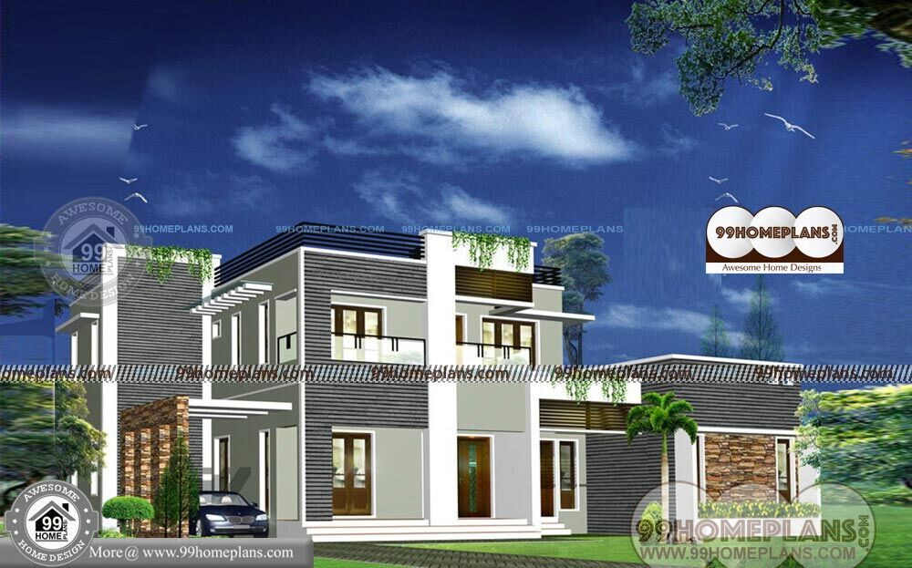 Indian style small house designs two floor with 3d for Small house plans indian style