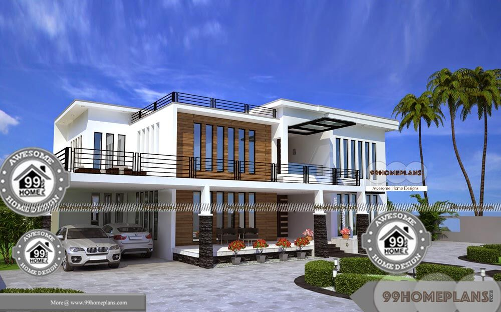 Kerala House Designs With Courtyard Double Floor Stunning Home Plans
