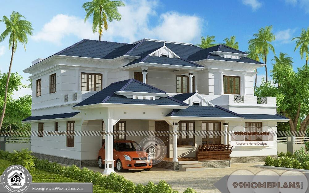 Kerala model house plans with elevation with modern new for New model house plan