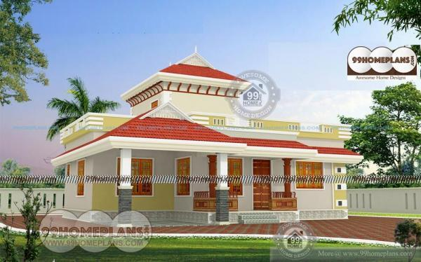 Kerala new model home design two story house plans for small family