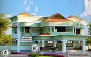 Kerala Sopanam Design Residential Plans and 3D Elevations Collections