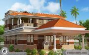 Kerala Style New Model House with Modern Conventional Plan Designs