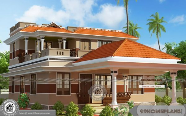 Kerala Style New Model House With Modern Conventional Plan