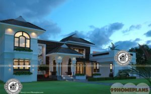 Low Cost Cottage Designs Double Floor Fashion & Trendy Model Homes