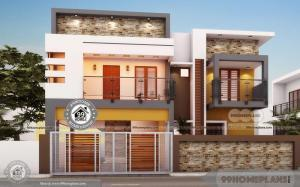 Luxury Bungalow Floor Plans with Double Story Triplex Cute External Plan