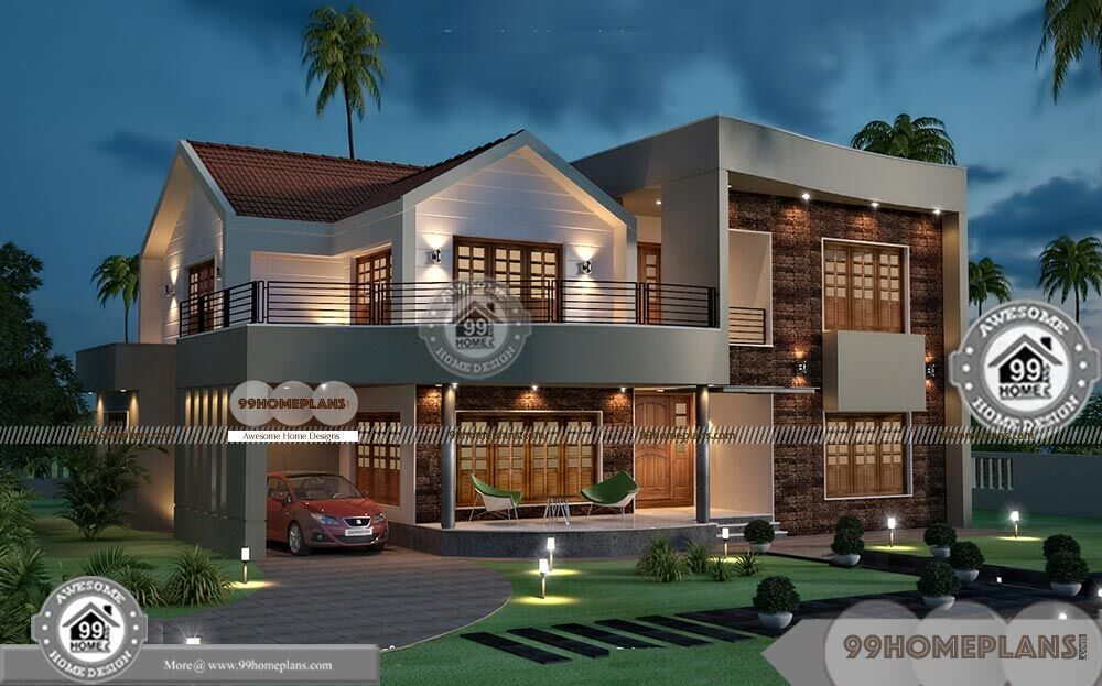 Luxury classic villa design double floor modern style for Classic luxury homes