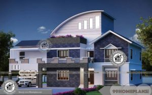 Modern Design Bungalow House Kerala Style Residential Plan Collections