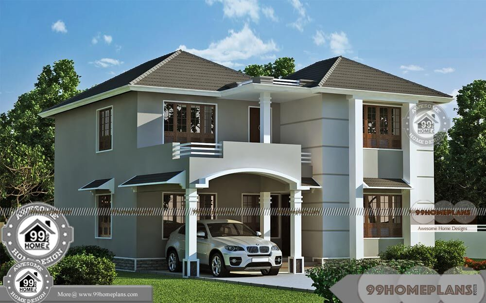 Double Storey House Elevations : Modern double storey house designs with best story home