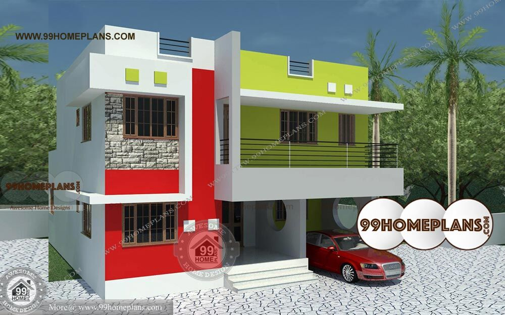 Modern house design bungalow first class 2 floor low cost for Low cost per square foot house plans