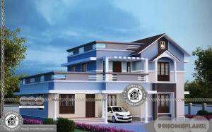 Modern Two Story Homes with Cute and Simple Kerala Patterned Designs