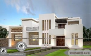 Mountain Contemporary Home Plans Two Floor 4 BHK House Collections