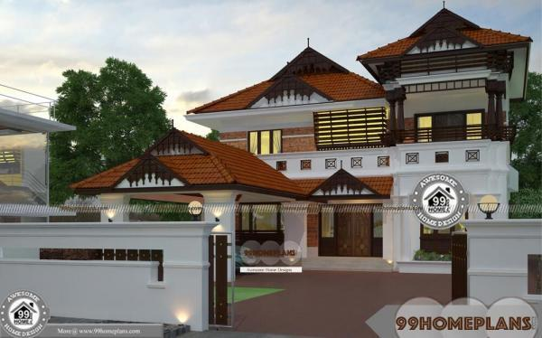 House Plan Small Home Design: Nalukettu Plan And Estimate With Double Story Traditional