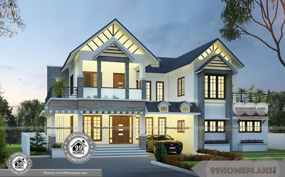 Narrow frontage homes designs with two story modern cute for Modern kerala style house plans with photos