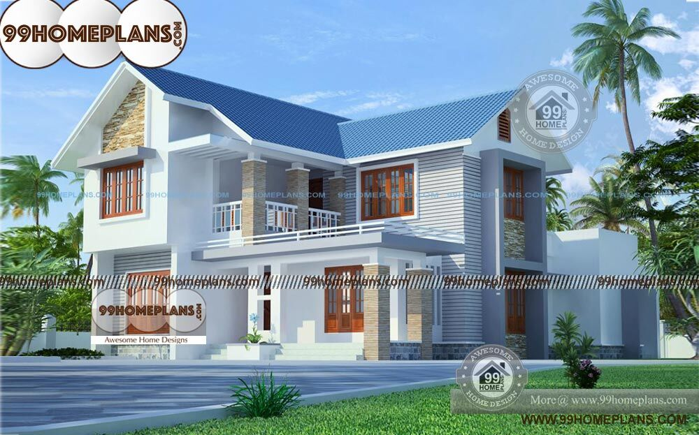 New luxury house plans with two story kerala style awesome for 2 story luxury house plans