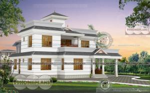 New Model Home In Kerala 2 Story Spacious Affordable Price House Plan