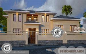 Old Fashioned Home Plans Double Floor Medium Level House Designs