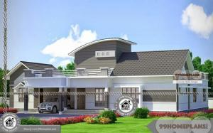 One Level Luxury House Plans with Modern Ranch Style Home Collections