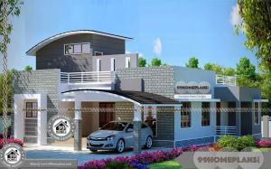 One Level Ranch House Plans with Simple Architectural Design Collection