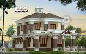 Online Indian House Plan Design with Double Floor 4 BHK Designs