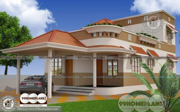 Residential house plans indian style 2 floor home design for Exterior house designs indian style